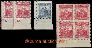 49633 - 1926 Pof.220 s DČ1 a 1A + Pof.223 a DČ1 + Pof.220, Malé k