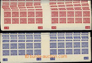 49651 - 1939 Pof.DL1-14, bottom cut twenty-stripes with margins (gut