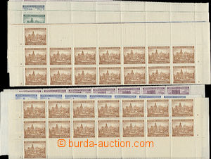 49652 - 1939 Pof.36-40 Landscapes, complete 3line upper and bottom s