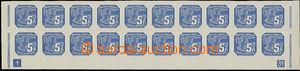 49653 - 1939 Pof.NV2 Holubice, celý dolní 20-pás s DČ 1-39 a ši