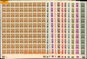 49654 - 1943 Pof.SL13-24 Official II., complete 100-stamps. sheets w