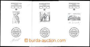 49678 - 1995 comp. 3 pcs of commemorative prints Zsf.36PTb, 44PTb, 7