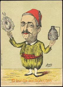49691 - 1930 ALŽÍRSKO  reklamní kartička propagující původní