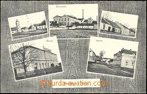 49693 - 1920 Vrdy - 5-views, sugar-factory, hotel, school, street, s