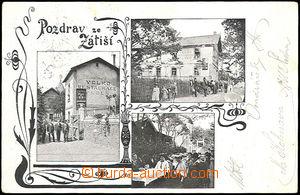 49694 - 1906 Modřany - 3okénková, plzeňská restaurace v Zátiší; proš
