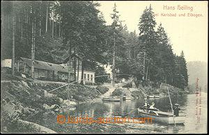 49695 - 1900 Hans Heiling - výletní restaurace, lidé v lodičce; DA,