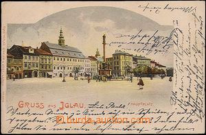 49715 - 1901 Jihlava - main square; Us, wrinkled corners
