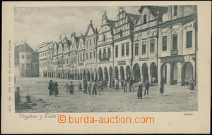 49716 - 1901 Telč - figures in the square; long address, Un, very l