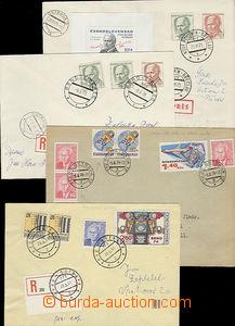 49720 - 1975-81 comp. 4 pcs of philatelic entires (3x Reg letter, 1x