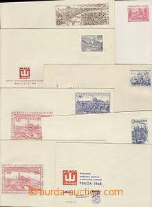 49723 - 1953-68 COB8, 16, 20, 22, 23, CZA3, comp. 5 pcs of postal st