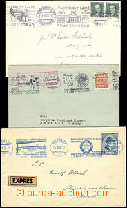 49735 - 1935-38 selection of 16 pcs of letters with various postmark