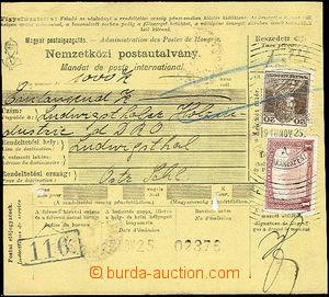 49742 - 1918 maďarská peněžní mezinárodní poukázka bez levé