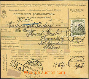 49743 - 1918 hungarian international postal stationary dealing with