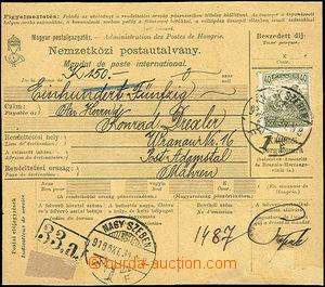 49743 - 1918 maďarská mezinárodní peněžní poukázka bez levé