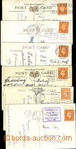 49803 - 1940-2 sestava 6 pohlednic zaslaných na čsl. vojáky v Ang