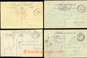 49804 - 1918 FRANCE  comp. of 4 Ppc sent to legionnaire in France, a