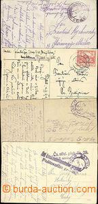 49805 - 1919 4 pohlednice zaslané přes PP na Těšínsku, DR Karvi