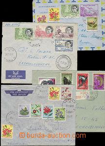 49807 - 1955-60 sestava 4ks dopisů s bohatou frankaturou adresovan�