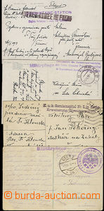 49814 - 1914-18 4 pcs of Ppc, sent by FP with cancel. hospital equip