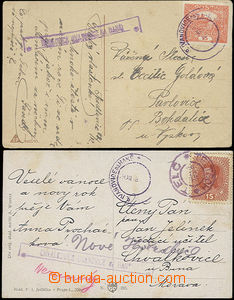 49857 - 1918-19 2 postcard with nationalized postal agency pmk MEDLO