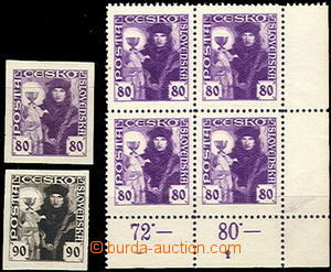 49882 - 1920 Pof.162, lower corner blok of 4 with plate mark 1, mint