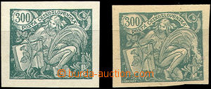 49883 - 1920 Pof.166 PLATE PROOF, imperforated plate proof in/at gre
