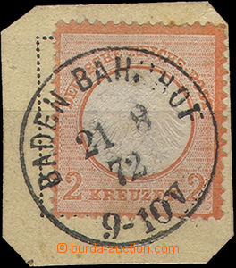 49890 - 1872 Mi.8 Eagle, on a small cutting, whole daily postmark Ba