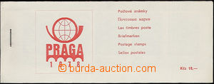 49904 - 1978 stamp-booklet PRAGA 1978, printing cover red, stamps Po