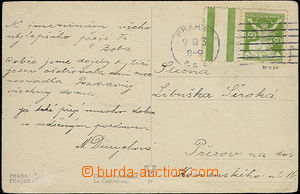 49931 - 1923 postcard with Pof.156B with coupon L from tête-b&#