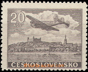 49966 - 1946 Pof.L22N, 20Kčs, brown, mint never hinged, exp. by Gil