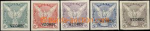 49970 - 1918 Pof.NV1, 3-6vz, comp. 5 pcs of stamps with overprint VZ