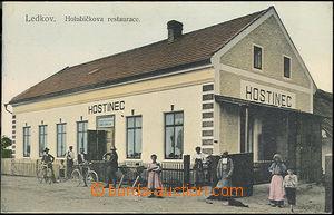49978 - 1910? Ledkov, Holubičkova restaurace, nepoužitá, pěkná kvali