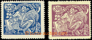 50009 - 1923 Pof.174A/II.typ, svěží + Pof.175A/II.typ, stopa po n