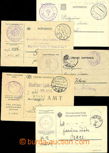 50042 - 1919-32 off. cards liberated from postage, selection of 26 p