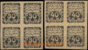 50046 - 1919 Pof.DL6 ZT a DL7 ZT Ornament, ve 4-blocích, zkusmé ti