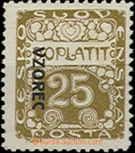 50048 - 1919 Pof.DL5VZ, přetisk VZOREC vlevo, směrem dolů, ŘZ 10