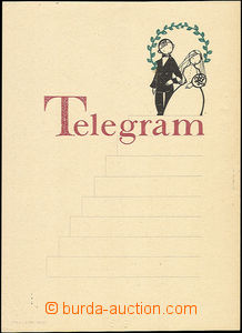 50078 - 1950 decorative wedding form/blank telegram with imprint 770