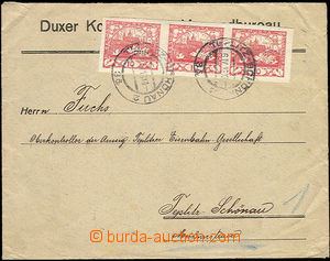 50085 - 1919 letter firm Duxer Kohlen association franked with. str-