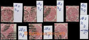 50110 - 1867 sestava 7ks zn. Mi.28, tiskové desky 4-10, kat. min. 1