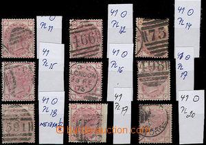50112 - 1873 sestava 9ks zn. Mi.41, tiskové desky 11, 12, 14-20, ka