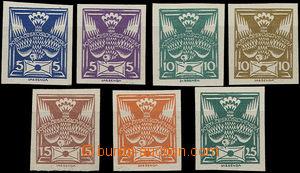 50129 - 1920 Pof.143N-149N, imperforated, expertised by Gilbert