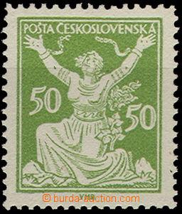 50130 - 1920 Pof.156B 50h zelená, ŘZ 13¾, zk. Gi., kat. 400