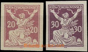 50131 - 1920 Pof.151N, 153N, změněné barvy, zk. 1x Kar., 1x Gi.