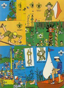 50144 - 1968 sestava 18ks barevných pohlednic se skautskou tematikou