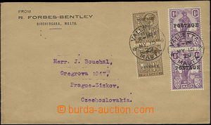 50150 - 1929 letter send to the Czechoslovakia paid by Mi.2x 103 + 2