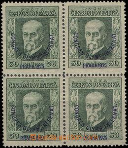 50152 - 1925 Pof.180 P5 in 4block, expertised by Gilbert, Mrnak, cat