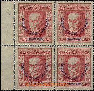 50154 - 1925 Pof.181 P8, Kongres, ve 4-bloku s levým okrajem, zk. G