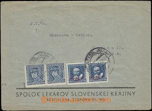 50155 - 1939 firemní dopis adresovaný do Protektorátu, vyfr. 2-p�