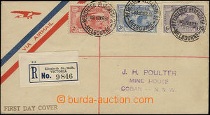 50158 - 1931 AUSTRALIA  registered + airmail letter franked by Mi.95