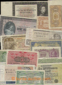 50176 - 1919-50 selection of 16 pcs of bank-notes valid in territory